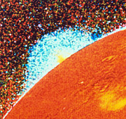 Volcano Prints - Voyager 1 Image Of A Volcanic Plume Print by NASA / Science Source