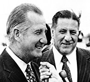 Agnew Prints - Vp Spiro Agnew With Mayor Frank Rizzo Print by Everett