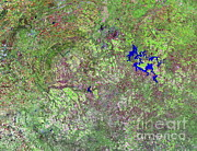 South African Prints - Vredefort Crater, South Africa Print by NASA / Science Source