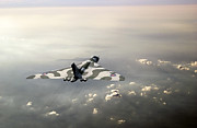 Warbird Photos - Vulcan over the Channel by Gary Eason