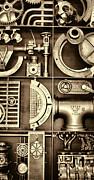 Vulcan Steel Steampunk Ironworks Print by Kathy Clark