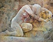 Nudes Mixed Media - Vulnerability by Chris  Lopez