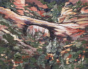 Canyon Paintings - Vultee Arch by Sandy Tracey