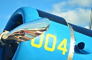 2011 Vna Stuart Airshow Wibada Photo Prints - Vultee BT-13 Valiant Nose Print by Lynda Dawson-Youngclaus