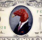Wall Street Prints - Vulture Capitalist... Print by Will Bullas