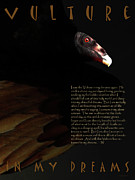 Wingsdomain Digital Art - Vulture In My Dreams . with prose by Wingsdomain Art and Photography