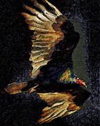 Goth Posters - Vulture In Van Gogh.s Dream Returns . 40D8879 Poster by Wingsdomain Art and Photography