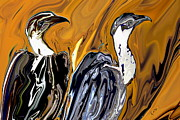 Wild Birds Digital Art Originals - Vulture by Rabi Khan