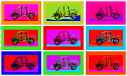 Toy Pyrography Acrylic Prints - VW Beatle 1b Acrylic Print by Mauro Celotti