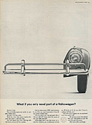 Car Advert Digital Art - VW Beetle Advert 1962 - What if you only need part of a Volkswagen by Nomad Art And  Design