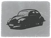Automotive Digital Art Metal Prints - VW Beetle Metal Print by Irina  March