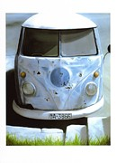 Camper Paintings - VW camper by Mark Cullup