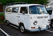 Hippie Van Posters - VW Camper Poster by Paul Ward