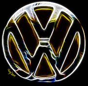 Car Emblems Prints - Vw Print by Cheryl Young