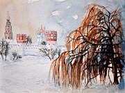 Moscow Painting Posters - W 42 Moscow Poster by Dogan Soysal