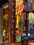 Movies Photo Originals - W 46th St. NYC by Mamie Thornbrue