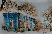 Snowy Trees Paintings - W 61 Suzdal by Dogan Soysal