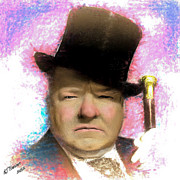 Hollywood Legend Prints - W C Fields Print by Arne Hansen