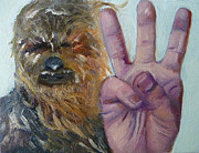 Chewbacca Paintings - W is for Wookie by Jessmyne Stephenson
