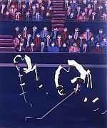 Hockey Paintings - W J by Yack Hockey Art