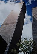 September 11 Wtc Digital Art Metal Prints - W T C 1 And 2 Metal Print by Rob Hans
