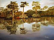 Waccamaw River Paintings - Waccamaw River by Phil Burton
