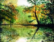 Waccamaw River Paintings - Waccamaw River SC by Phil Burton