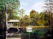 Waccamaw River Paintings - Waccamaw River Sloop by Phil Burton