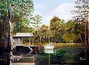 Waccamaw River Sloop Print by Phil Burton