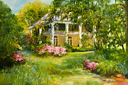 South Carolina Paintings - Wachesaw Plantation by Jane Woodward