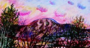 Massachusetts Pastels - Wachusett Pastel Sunset by Emily Michaud