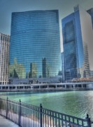 Franklin Metal Prints - Wacker Drive Metal Print by David Bearden