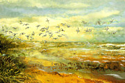 North Sea Paintings - Wadden Sea by Anne Weirich
