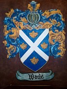 Armor Paintings - Wade Coat of Arms and Family Crest by Nancy Rutland