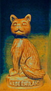Wade Mixed Media Prints - Wade England Cat Print by Patricia Januszkiewicz