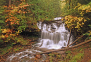 Michigan Waterfalls Prints - Wagner Falls Print by Michael Peychich