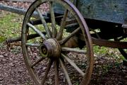 Mabry Framed Prints - Wagon at Mabry Mill Framed Print by Mark Currier