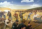 Wagon Box Fight, 1867 Print by Granger