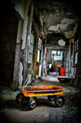 Abandoned Buildings Photo Prints - Wagon Of Past Print by Emily Stauring