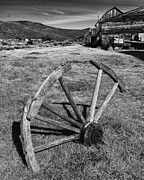 Miners Framed Prints - Wagon Wheel Bodie CA Framed Print by Troy Montemayor
