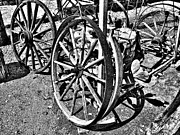 Wagon Wheels Photo Posters - Wagon Wheel Graveyard Poster by Douglas Barnard
