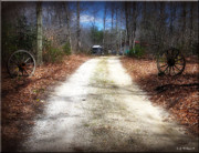 Sheds Prints - Wagon Wheel Lane Print by Brian Wallace