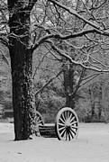 Nh Photos - Wagon Wheels Snow-Full by Michael Mooney