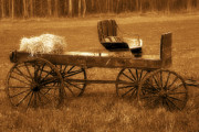 Bryan Davies - Wagon with Hay Bale