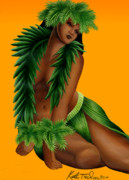 Pop  Paintings - Wahine by Keith Tucker
