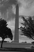 Washington D.c. Originals - Wahington Monument BW by Sabrina  Hall