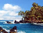 Waianapanapa Maui Hawaii Print by Kurt Van Wagner