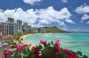 Busy City Photos - Waikiki And Diamond Head by Tomas del Amo - Printscapes