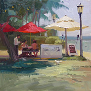Waiter Painting Prints - Waikiki Hotspot Print by Richard Robinson