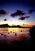 Kevin W. Smith Framed Prints - Waikiki Lagoon Dawn Framed Print by Kevin Smith